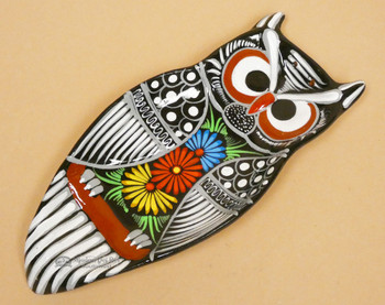 Hand Painted Ceramic Spoon Rest Owl