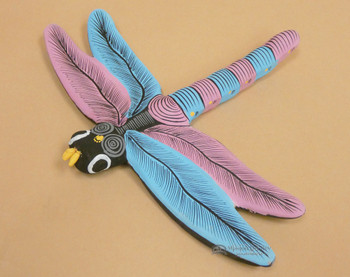 Western Hand Painted Matte Dragonfly (2bc93)