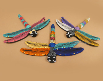 Assorted Hand Painted Matte Dragonflies