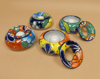 Assorted Hand Painted Talavera Ashtray w/ Lid