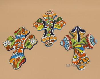 """Hand Painted Talavera Cross 13.5"""" -Bulk"""