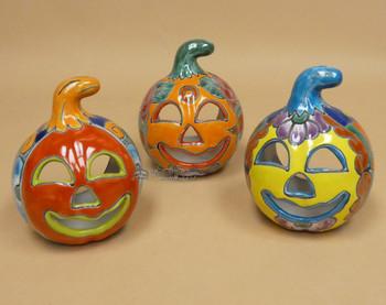Hand Painted Talavera Jack O'Lanterns