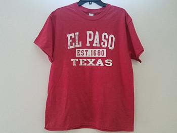 Premium El Paso T Shirt - Heather Red Small