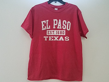 Premium El Paso T Shirt - Heather Red 3XL