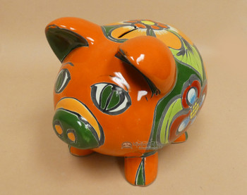 Hand Painted Talavera Piggy Bank