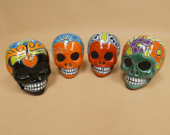 Assorted Hand Painted Day of the Dead Skulls