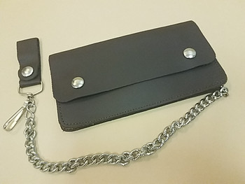 Western Leather Trucker Wallet With Belt Clip and Chain