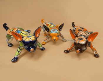 Assorted Hand Painted Talavera Chihuahuas
