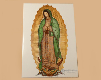 Ceramic Virgin de Guadalupe Tile 18""