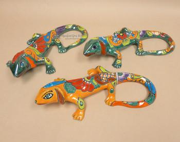Assorted Hand Painted Talavera Iguanas