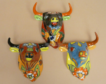 Hand Painted Wall Hanging Bulls