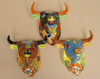 Hand Painted Wall Hanging Bulls
