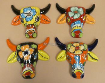 Hand Painted Talavera Bulls