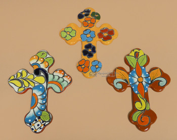 Hand Painted Talavera Wall Crosses