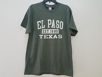 Premium El Paso T Shirt - Heather Olive Small