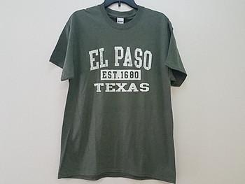 Premium El Paso T Shirt - Heather Olive Medium
