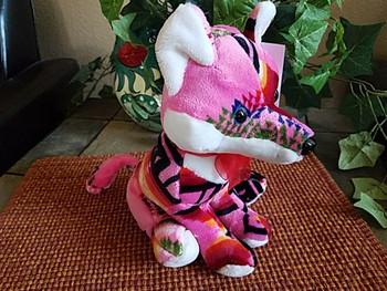"""Southwest Plush Stuffed Animal 10"""" -Pink Fox"""