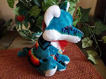 "Southwestern Stuffed Animal 10"" -Turquoise Fox"