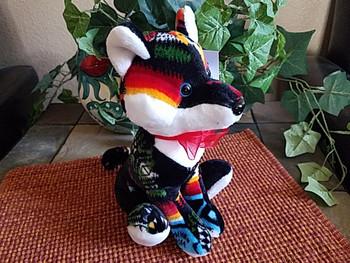 "Southwestern Stuffed Animal 10"" -Black Fox"