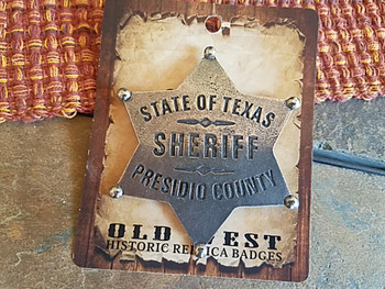 Historic Old West Texas Replica Sheriff Badge
