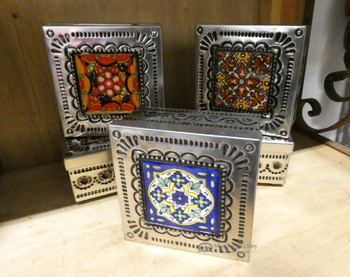 Handcrafted Tin & Talavera Jewelry Box