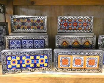 Handcrafted Tin & Talavera Jewelry Box