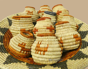 Assorted Hand Coiled Mini Cobra Baskets