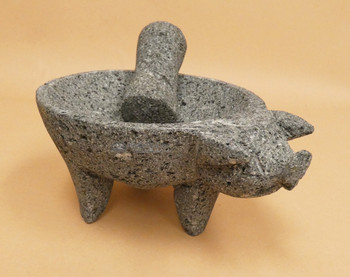 Pig Shaped Molcajete