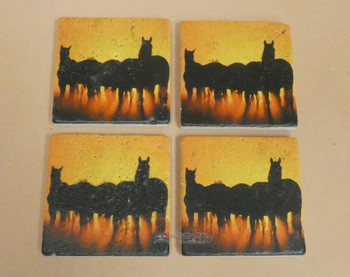 Travertine Stone Coaster Set of 4