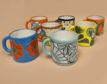 Assorted Classic Hand Painted Talavera Mugs