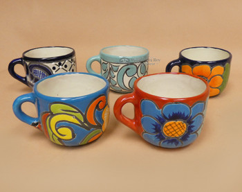 Rounded Hand Painted Talavara Mugs