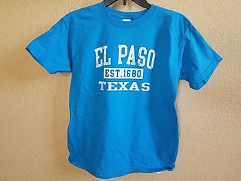 Premium Kids Size El Paso T Shirt -Aqua
