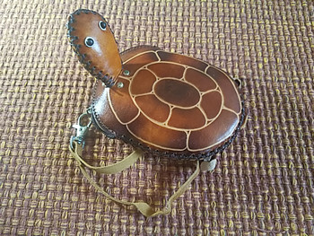 Southwestern Tooled Leather Coin Purse