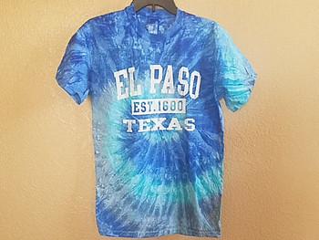 El Paso Tie Dye T Shirt - Aqua
