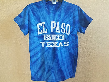 El Paso Tie Dye T Shirt -Royal Blue