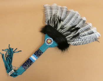 Native American Beaded Dance Fan