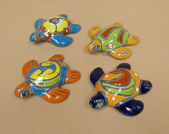 Assorted Hand Painted Talavera Turtles