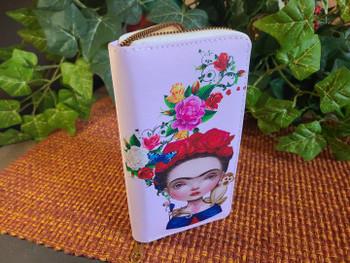 Printed Cartoon Wallet -Frieda Kahlo