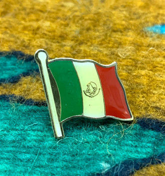Mexico Flag Hat Pin / Lapel Pin