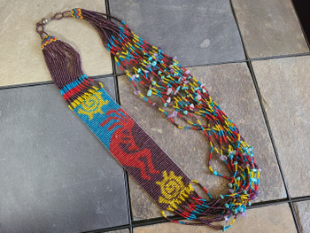 "Beaded Strand Necklace 34"" -Kokopelli"