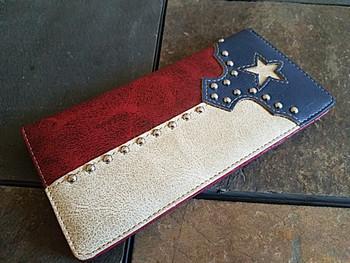 Men's Texas Flag Roper Wallet