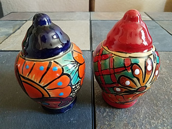 Talavera Pottery Salt & Pepper Shaker Set