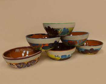 Hand Painted Clay Bowls