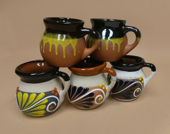 Assorted Clay Mugs -Various Designs & Finishes