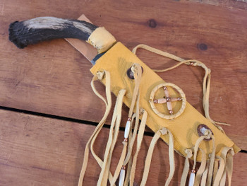 Native American Antler Knife & Sheath