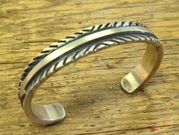 Southwest Navajo Silver Cuff Bracelet