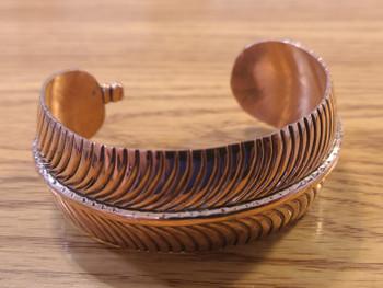 Navajo Indian Copper Leaf Cuff Bracelet