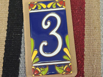 Southwestern Address Number Tile #3