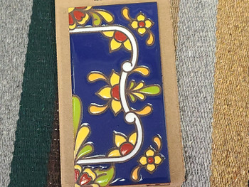 Southwestern Number Tile Border -Flower Right