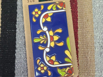 Southwestern Number Tile Border -Flower Left